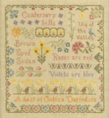 click here to view larger image of Antique Flower Sampler (chart)