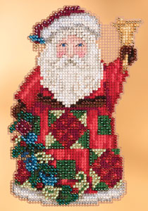 click here to view larger image of Glad Tidings Santa (2013) (counted cross stitch kit)