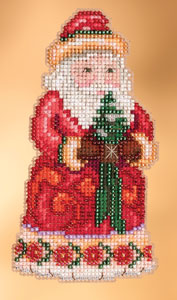 click here to view larger image of Christmas Cheer Santa (2013) (counted cross stitch kit)