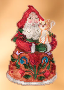 click here to view larger image of Purrfect Christmas Santa (2013) (counted cross stitch kit)