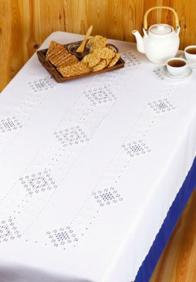 click here to view larger image of Hardanger Tablecloth (Hardanger and Cut Work)