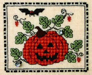 click here to view larger image of Tiny Plaid Pumpkin (chart with charms/buttons)