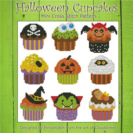 click here to view larger image of Halloween Cupcakes (chart)