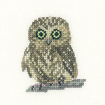 click here to view larger image of Owl (aida) (counted cross stitch kit)