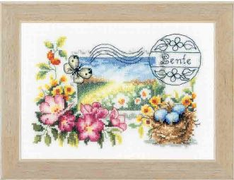 click here to view larger image of Spring Stamp (counted cross stitch kit)