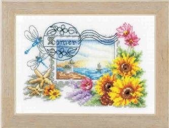 click here to view larger image of Summer Stamp (counted cross stitch kit)