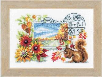 click here to view larger image of Autumn Stamp (counted cross stitch kit)
