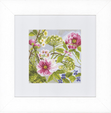 click here to view larger image of Peonies (counted cross stitch kit)