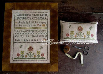 click here to view larger image of Verity Fairfield Sampler and PinPillow (chart)