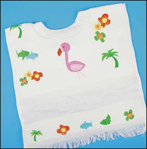 click here to view larger image of Flamingo Bib (stitchable)