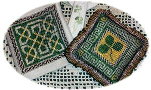 click here to view larger image of Celtic Knot Sachet or Pin Pillow Kit (counted cross stitch kit)