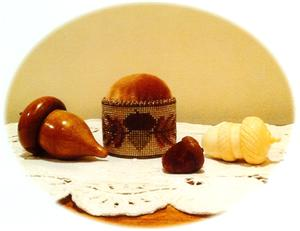 click here to view larger image of Autumn Acorn Pincushion (counted cross stitch kit)