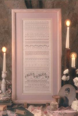 click here to view larger image of Victorian Blue Sampler (counted cross stitch kit)