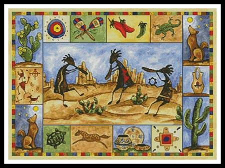 click here to view larger image of Kokopelli Sampler  (Sara Mullen) (chart)