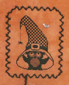 click here to view larger image of Ooolee Under Witch's Hat - Halloween Silhouette (chart with charms/buttons)