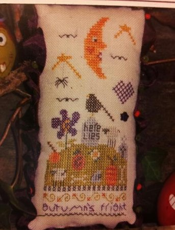 click here to view larger image of Autumn's Fright Pincushion (counted cross stitch kit)