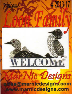 click here to view larger image of Loon Family Welcome (chart)