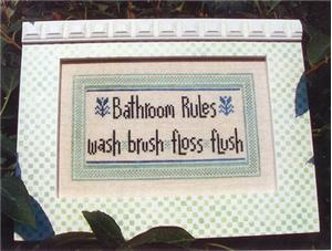 click here to view larger image of Bathroom Rules (chart)