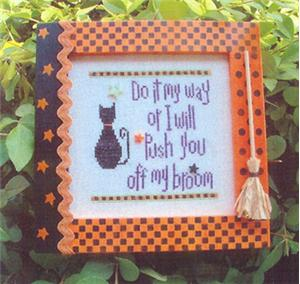 click here to view larger image of Off My Broom (includes buttons) (chart with charms/buttons)