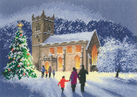 click here to view larger image of Christmas Church (counted cross stitch kit)