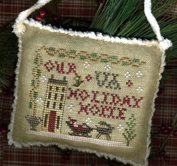 click here to view larger image of Your State Holiday Home - Sampler Ornament 2013 (chart with charms/buttons)