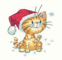 click here to view larger image of Catching Snowflakes - Cats Rule (counted cross stitch kit)
