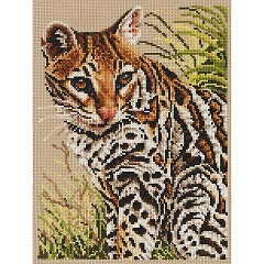 click here to view larger image of Ocelot (counted cross stitch kit)
