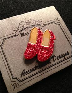 click here to view larger image of Monster Ruby Slippers Magnet set (accessory)