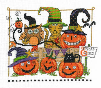 click here to view larger image of Boo Friends -  Kit (counted cross stitch kit)