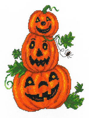 click here to view larger image of Pumpkin Trio (chart)