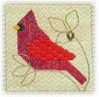 click here to view larger image of Bargello Cardinal (Includes Charm) (chart with charms/buttons)
