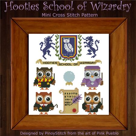 click here to view larger image of Hooties School of Wizardry (chart)