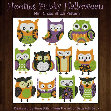click here to view larger image of Hooties Funky Owls Halloween (chart)
