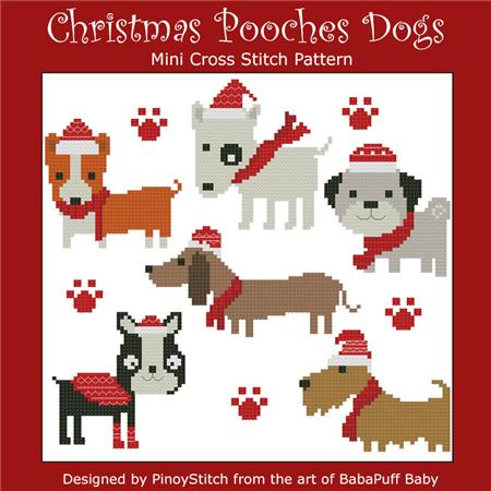 click here to view larger image of Christmas Pooches Dogs (chart)