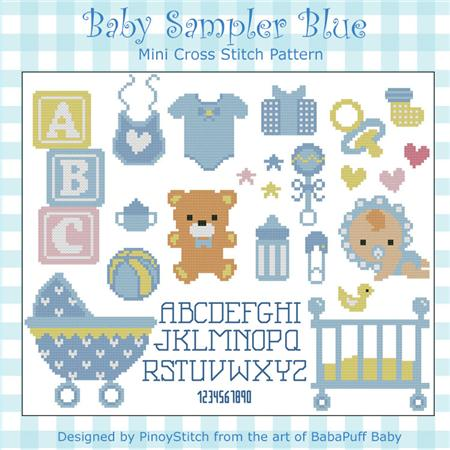 click here to view larger image of Baby Sampler Blue (chart)