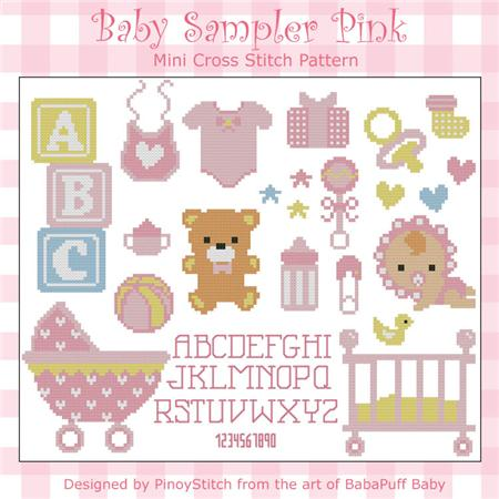 click here to view larger image of Baby Sampler Pink (chart)