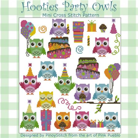 click here to view larger image of Hooties Party Owls (chart)