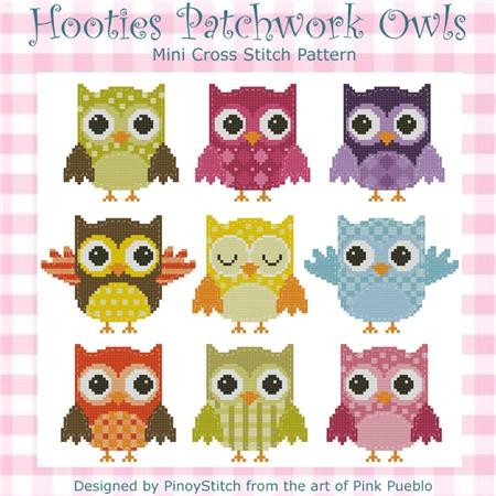 click here to view larger image of Hooties Patchwork Owls (chart)