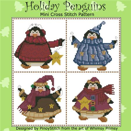click here to view larger image of Holiday Penguins (chart)