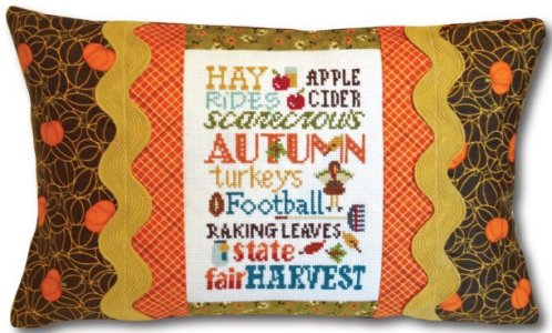 click here to view larger image of Autumn Typography (counted cross stitch kit)