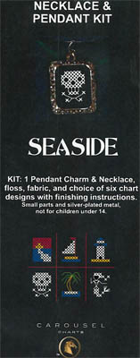 click here to view larger image of Seaside Necklace Kit (counted cross stitch kit)