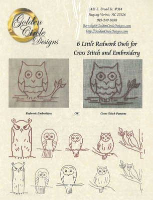 click here to view larger image of Six Redwork Owls (chart)