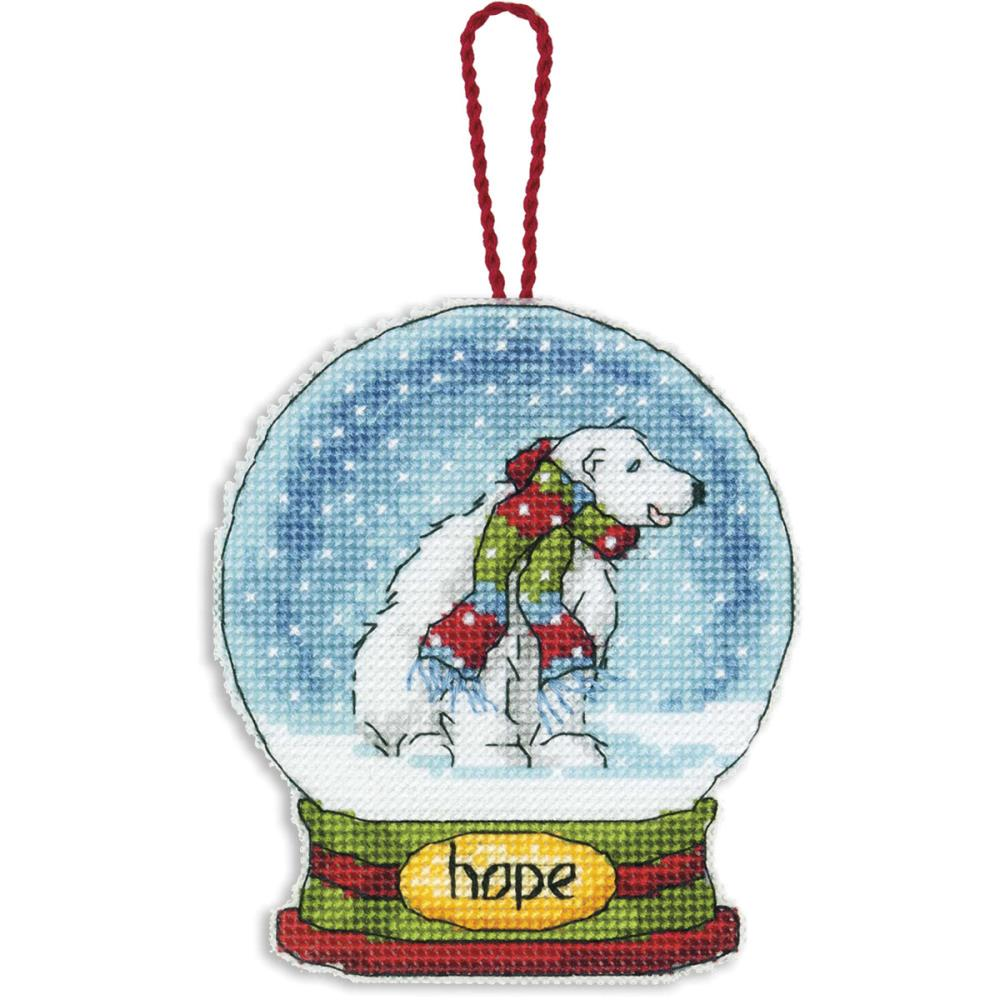 click here to view larger image of Hope Snowglobe (counted cross stitch kit)