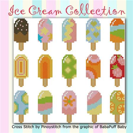 click here to view larger image of Ice Cream Colorful Collection (chart)