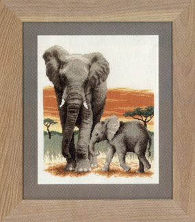 click here to view larger image of Elephant's Journey (counted cross stitch kit)