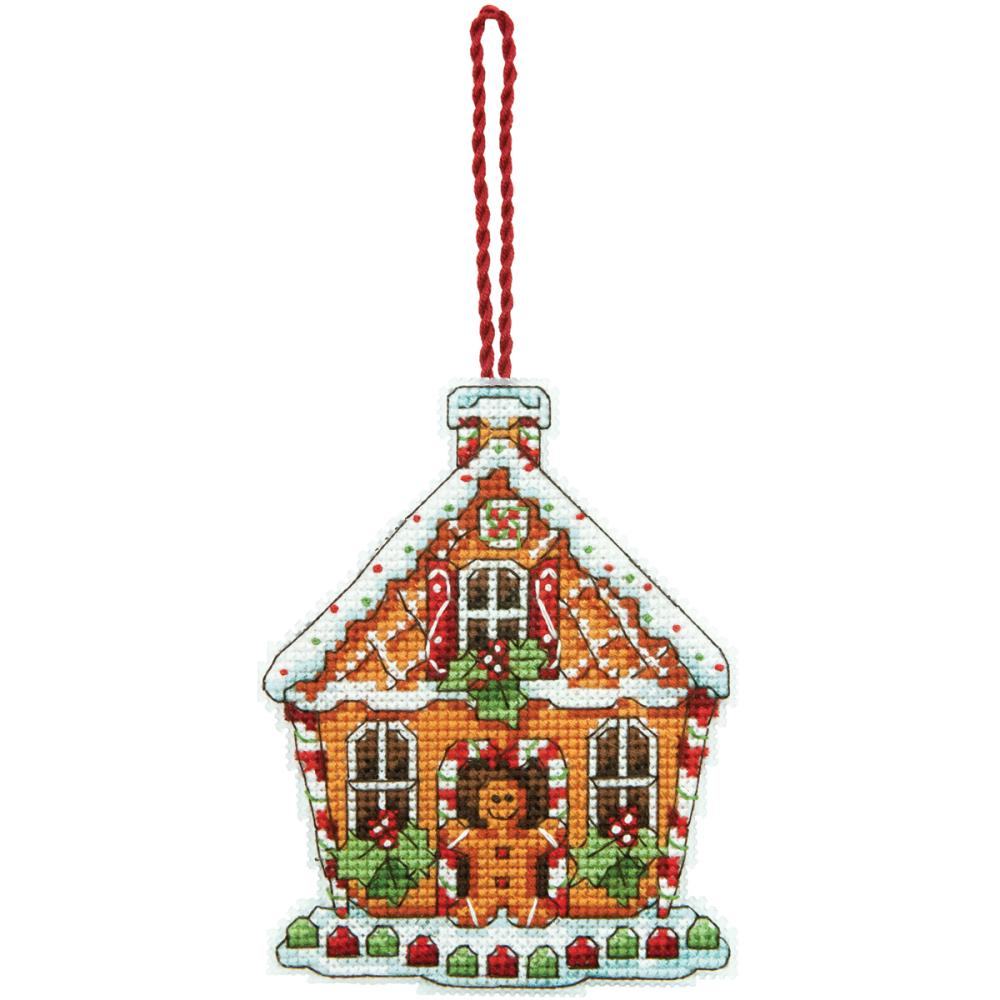 click here to view larger image of Gingerbread House Ornament (counted cross stitch kit)