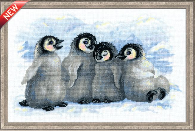 click here to view larger image of Funny Penguins (counted cross stitch kit)