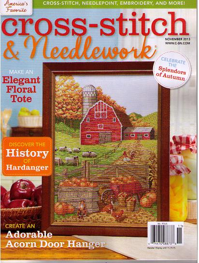 click here to view larger image of Cross Stitch & Needlework Magazine - November 2013 (magazines)