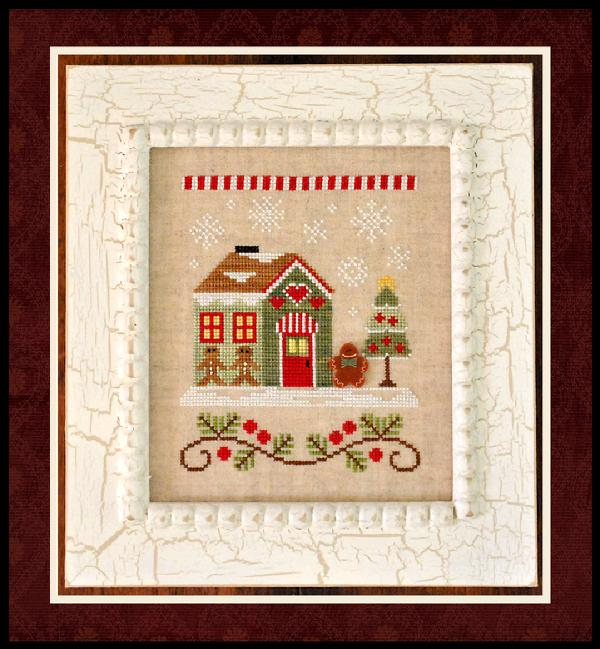 click here to view larger image of  Gingerbread Emporium - Santa's Village (includes button) (chart)