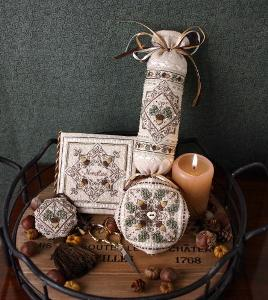 click here to view larger image of Tiny Acorn Accessories (counted cross stitch kit)